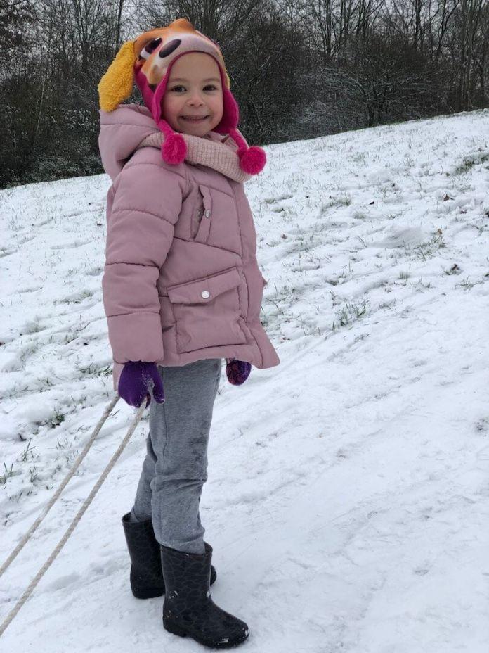 Eindelijk sneeuw dus een blij ei