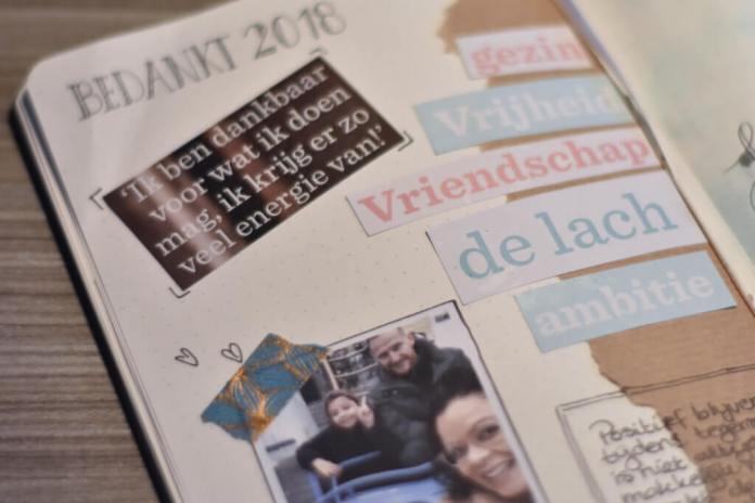 Mijn bullet journal in januari terugblik voorgaande maand
