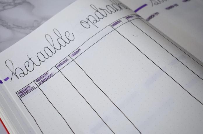Mijn bullet journal setup voor augustus betaalde opdrachten