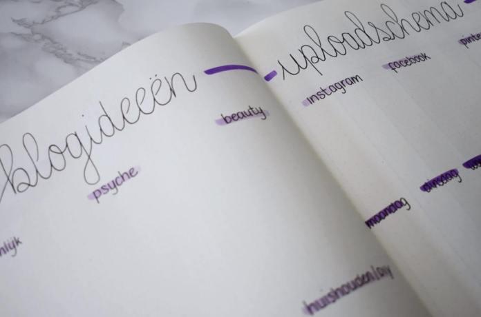Mijn bullet journal setup voor augustus blogideeen