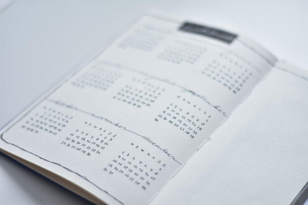jaarkalender in mijn bulletjournal voor Q2