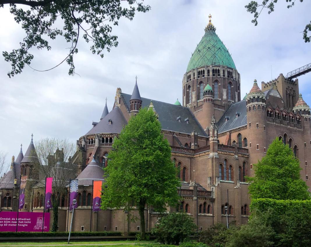 klim naar het licht koepel kathedraal Haarlem