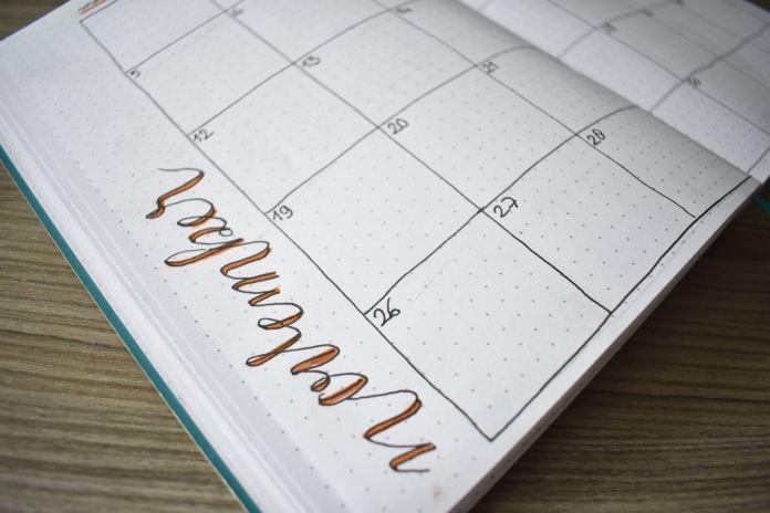 mijn bullet journal setup voor november maandoverzicht