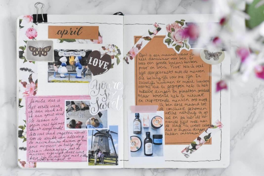 bullet journal terugblik april