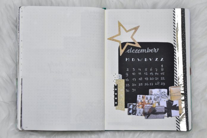 thema bullet journal in december