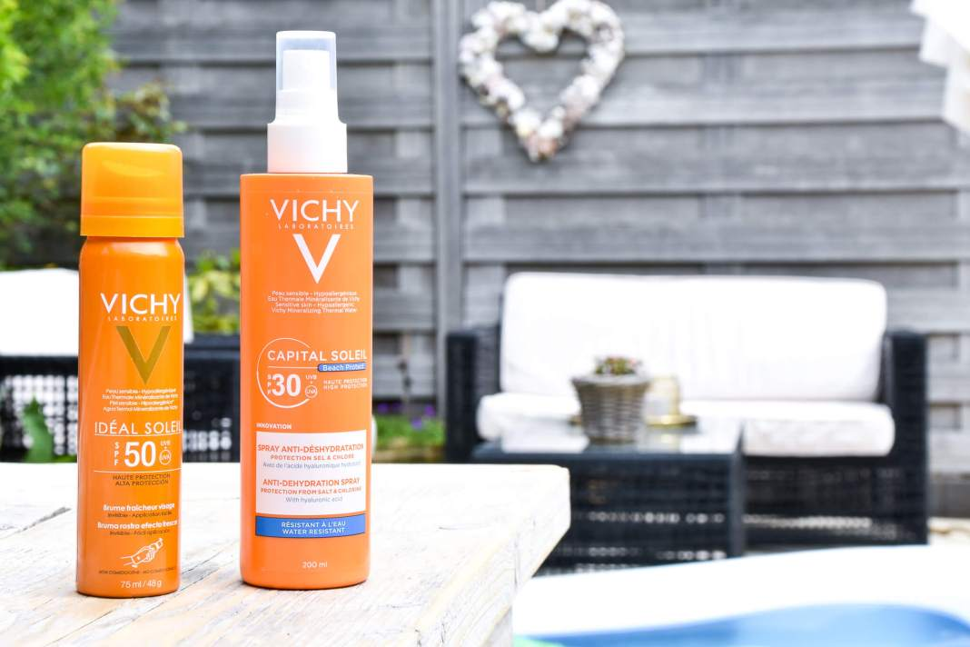 zonnebrandspray van Vichy