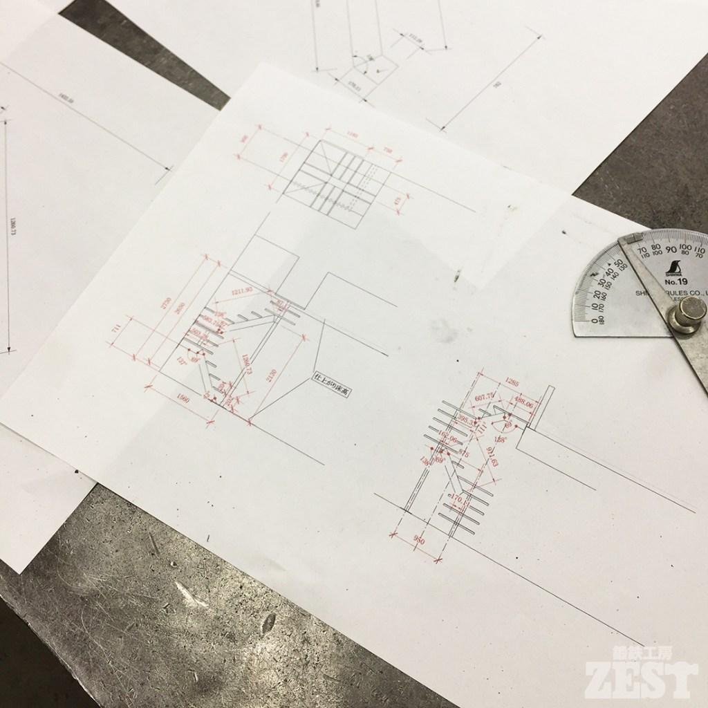 階段の設計図