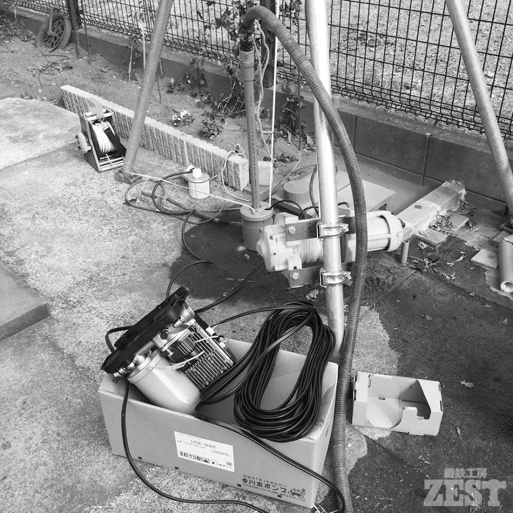 井戸水ポンプ交換