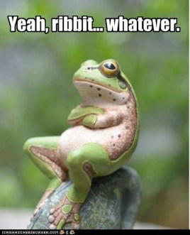 yeah ribbit whatever