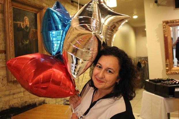 Shanta with Balloons