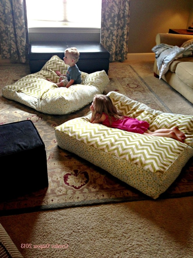 Extra Large Decorative Floor Pillows With Cool Blue Modern Ideas