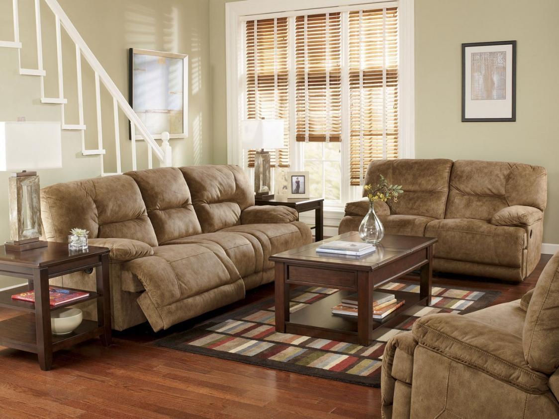 Gray Leather Sofa Set