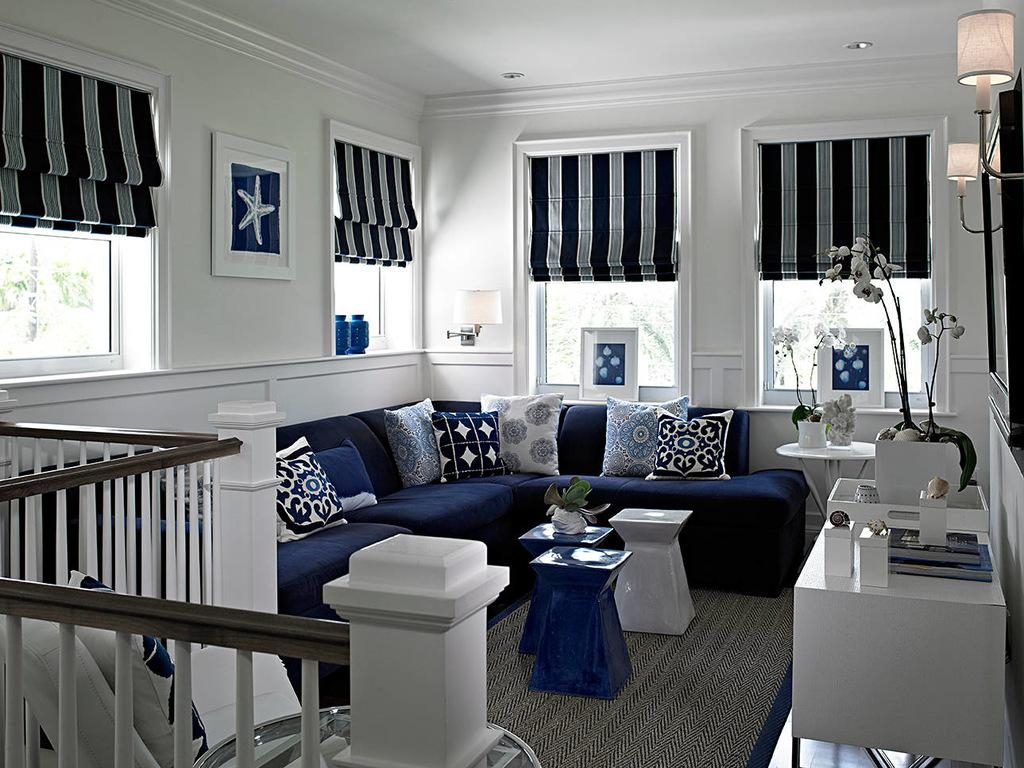 Sofa Ideas Blue And White Striped Sofas Explore 16 Of 20 Photos
