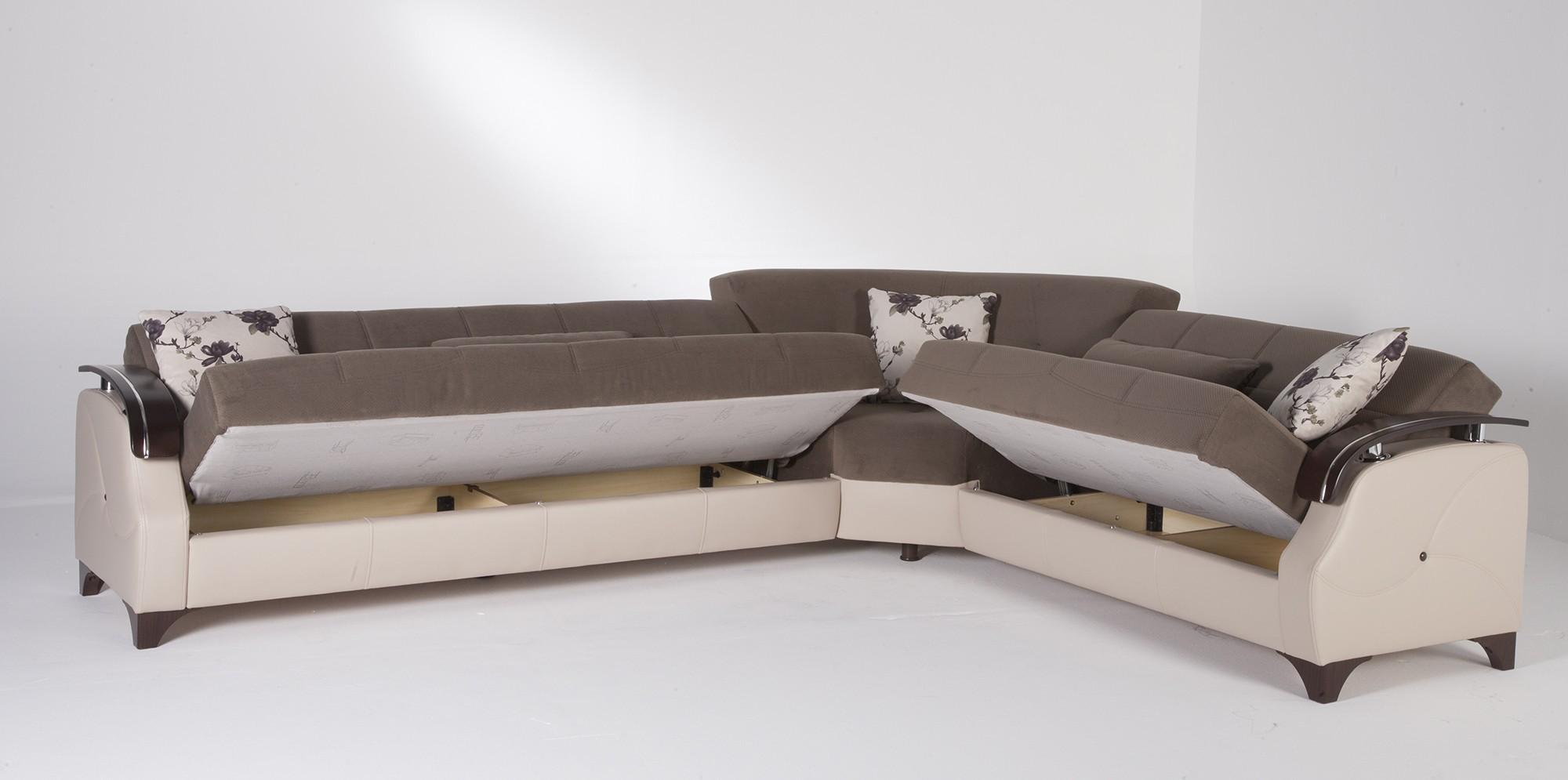 Queen Sofa Sleeper Sectional Microfiber