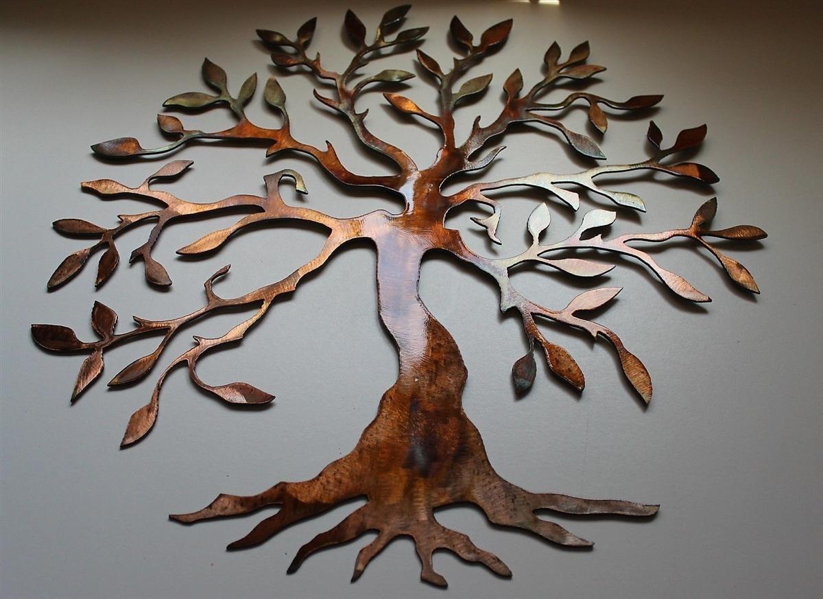 20 Photos Windy Oak Tree Metal Wall Art