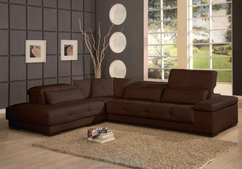 Rich Chocolate Brown Soft Corduroy Sectional Sofa For Sale In Rich ...