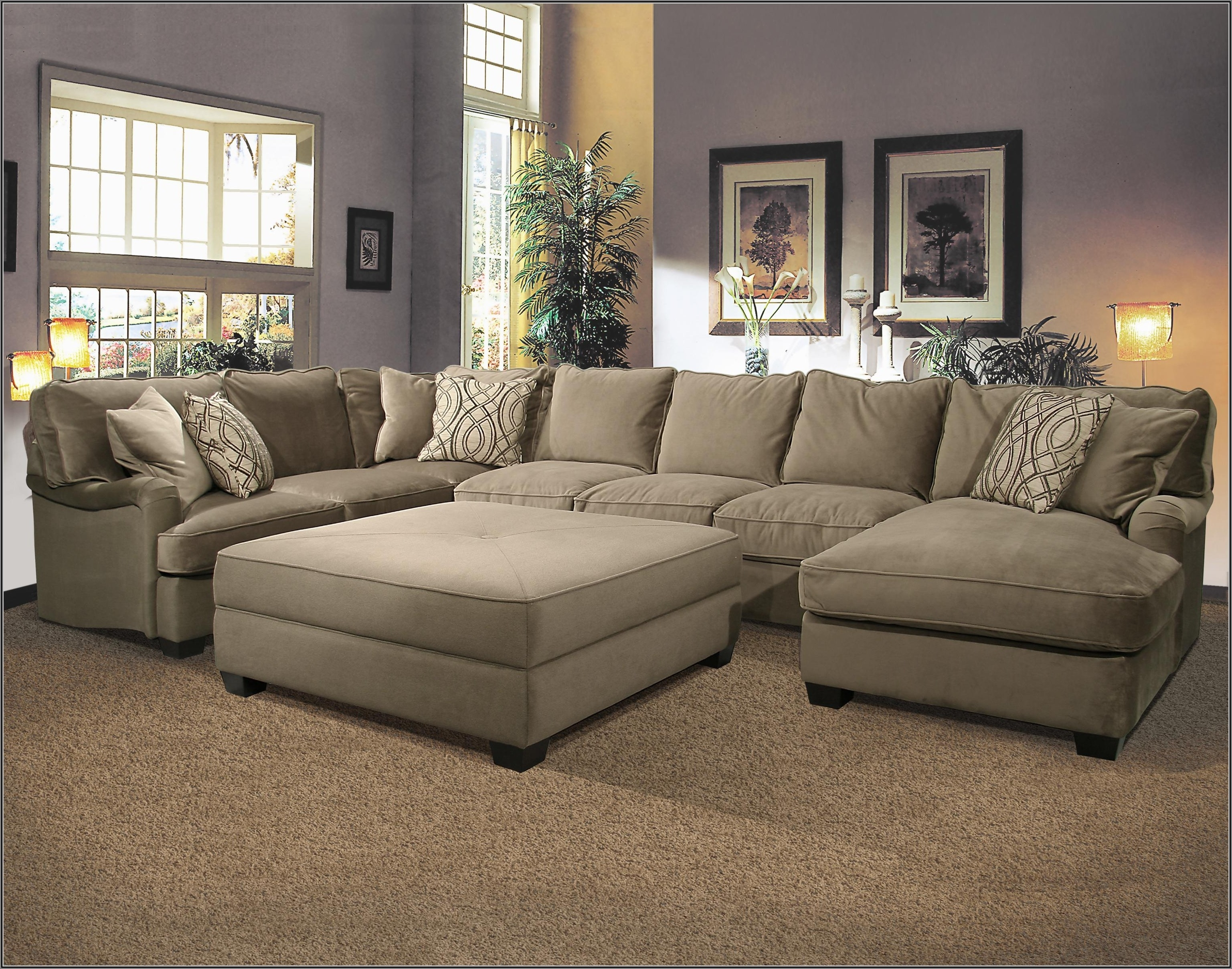 Horseshoe Shaped Sectional Couch