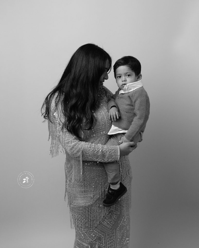 young family photographed in studio for holiday capture in marin county