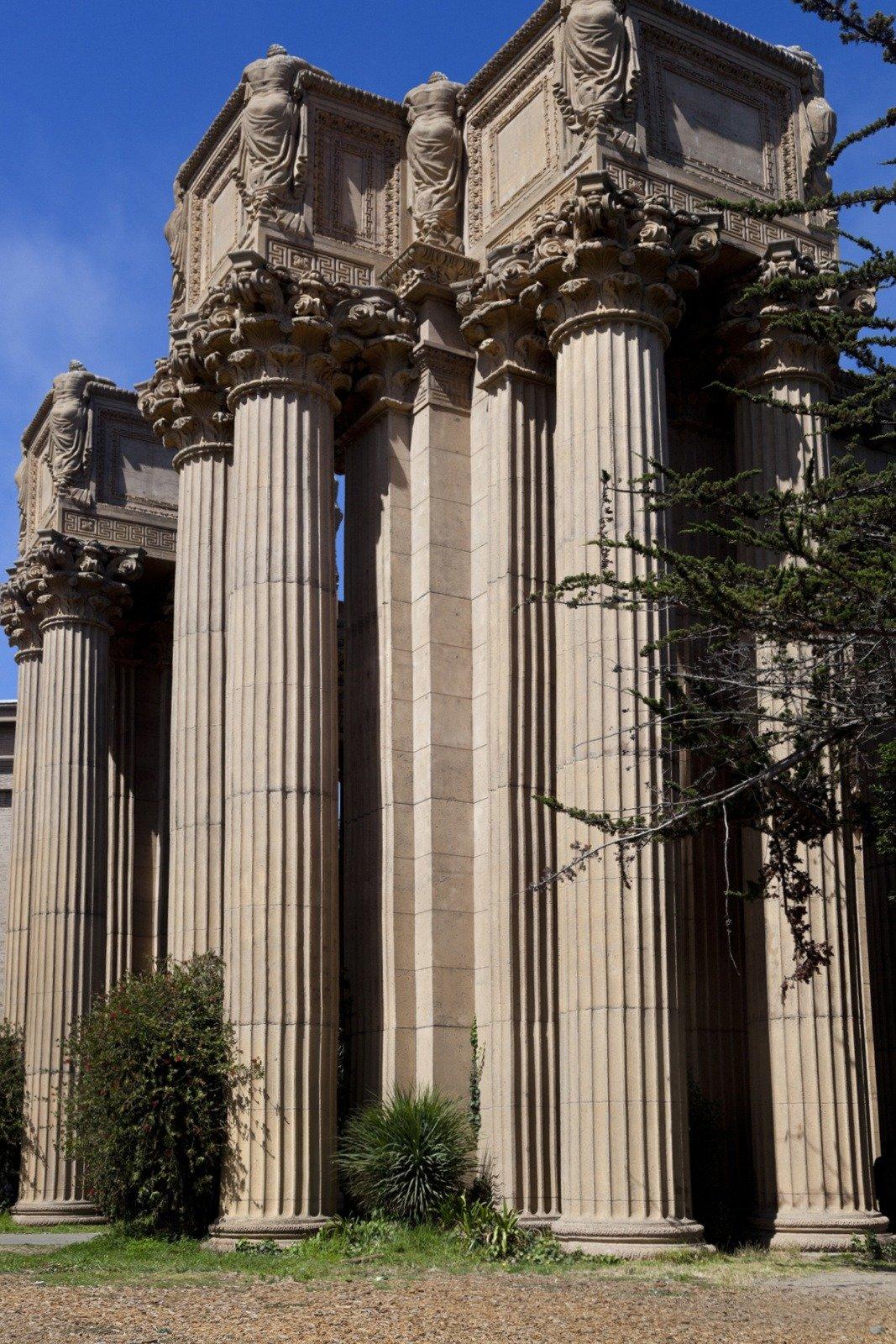Columns at Palace of Fine Arts in San Francisco