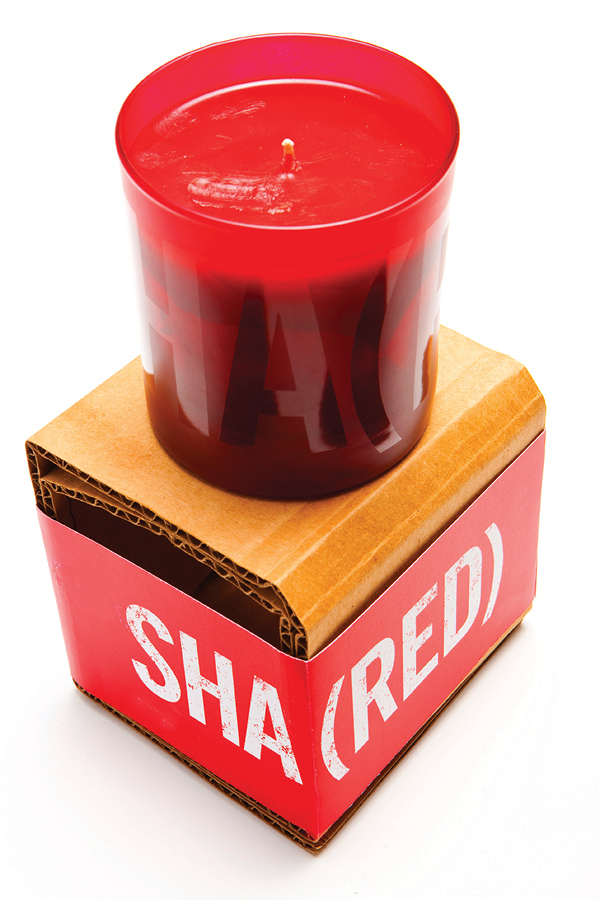 Product shot of The Gap's Sha(red) candle