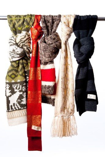 Product shot of The Gap's wool scarves