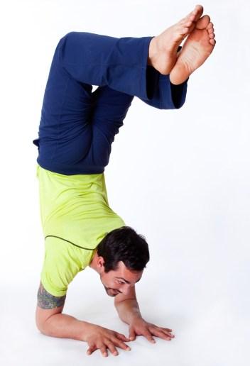 yogi doing the locust pose