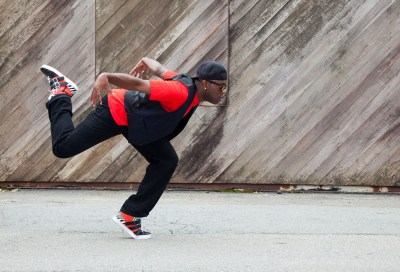 Hip hop dancer dancing in the streets of Sausalito