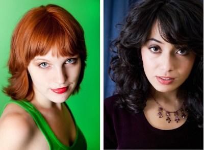 Two photos of two beautiful women (headshots)