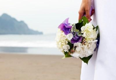 wedding bouquet outdoors in San Francisco