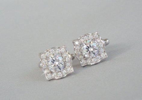 crystal cufflinks