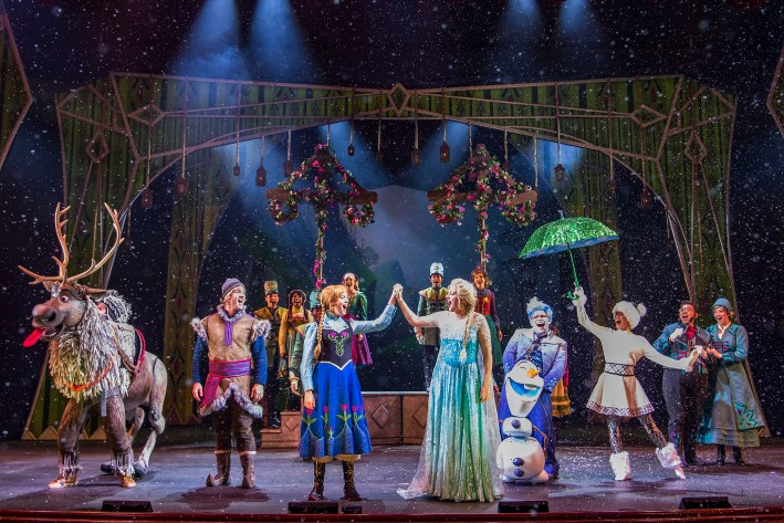 Top 10 Reasons to Book a Disney Cruise to Alaska featured by top US travel blogger, Tanya Foster: image of Frozen, A Musical Spectacular on the Disney Wonder