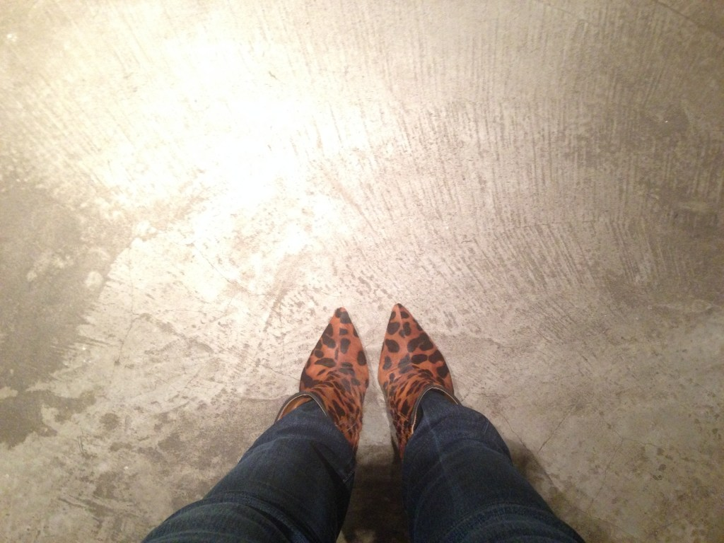 Schutz animal print boots