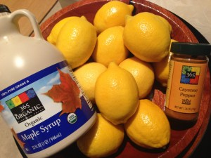 You will need these ingredients for the master cleanse