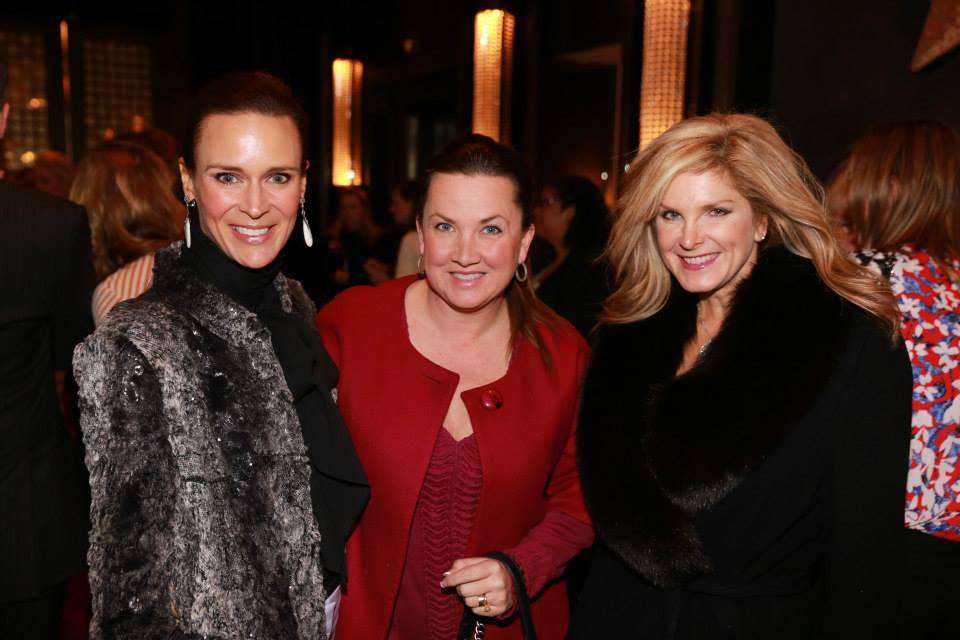 Past Chairman of the Cattle Baron's Ball: Brooke Shelby, Jennifer Dix and me