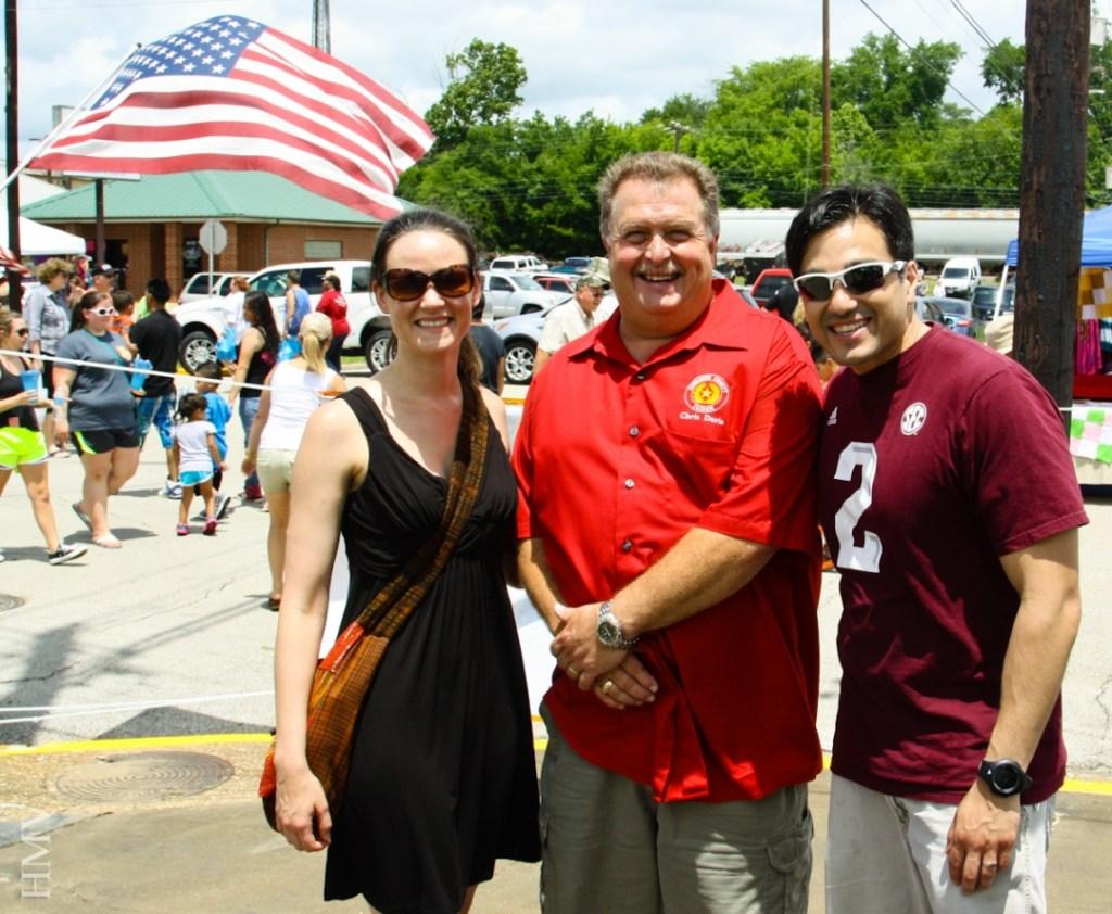Katie and Hector with Judge Chris Davis