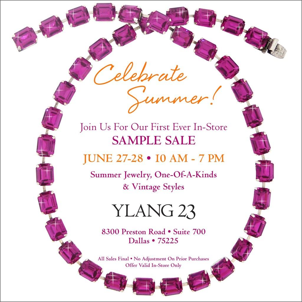 Ylang 23 sample sale