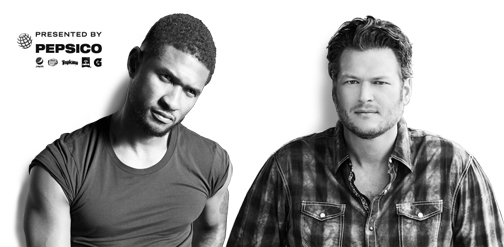 win 2 tickets to see the Blake Shelton and Usher concert