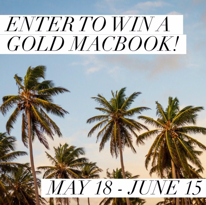gold macbook giveaway