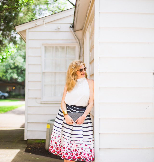 feeling ladylike with chicwish floral skirts