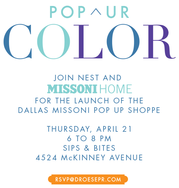 missoni home pop up shop at nest, tanyafoster.com