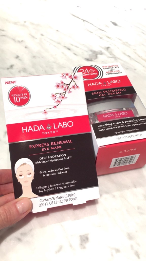 Hada Labo products, eye mask, skin plumping gel cream, Japanese