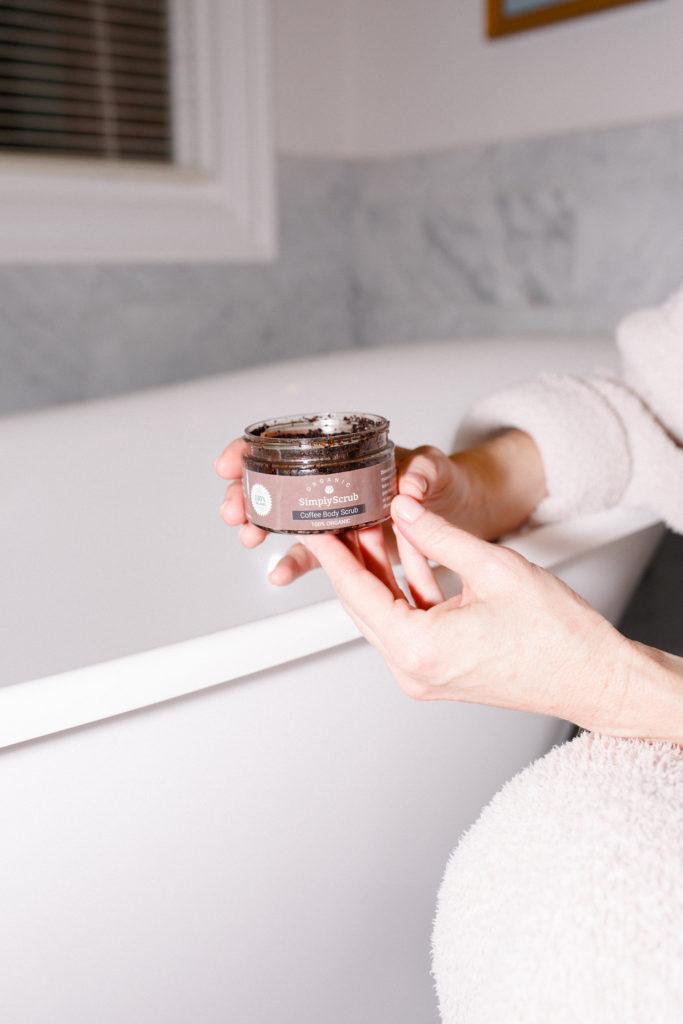 coffee body scrub, Simply Scrub, Tanya Foster, soft skin, organic