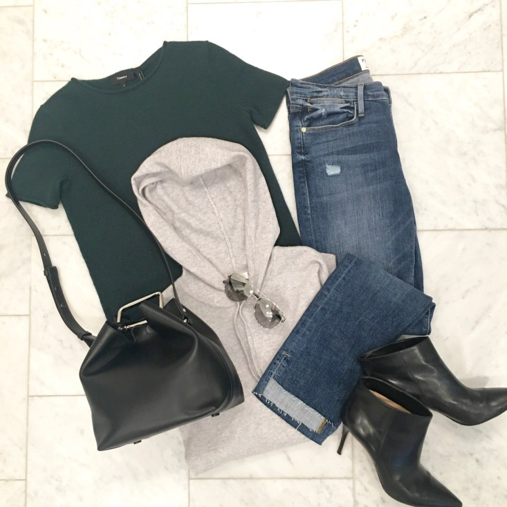 Nordstrom Anniversary Sale 2016, jeans, denim, cashmere, Phillip Lim black bucket bag