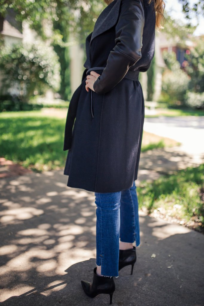 Leather Sleeve Wool Blend Wrap Coat, Package, Nordstrom Anniversary Sale, cashmere coat, TanyaFoster.com