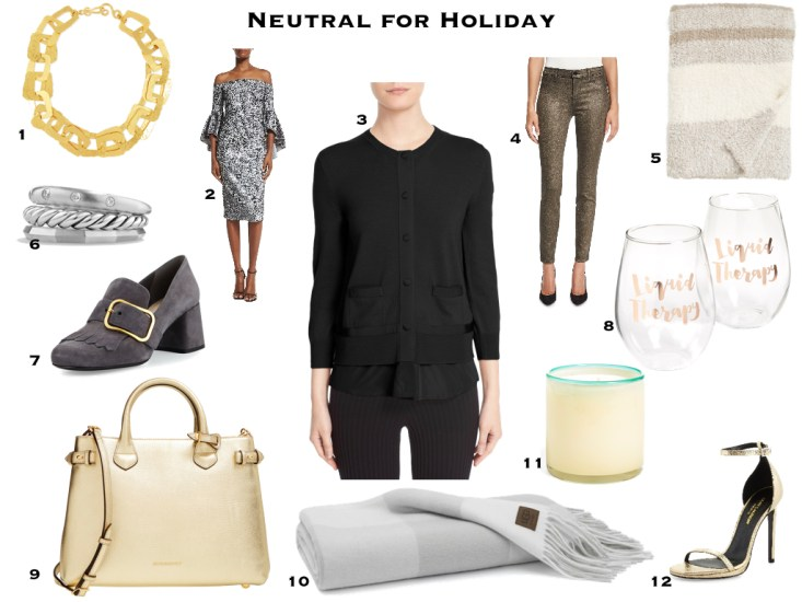 Neutral selections for holiday gift ideas