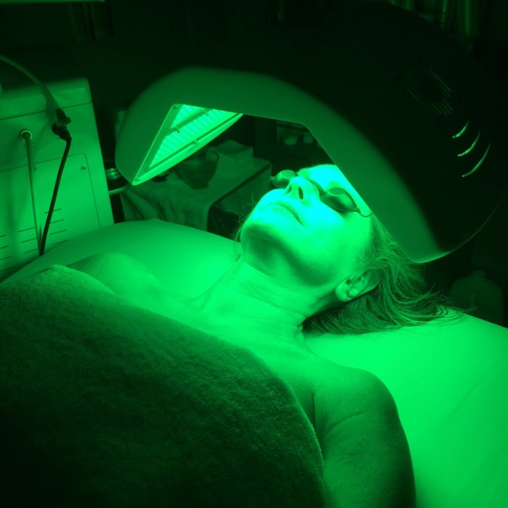 Tanya Foster getting an OxyLight Facial at the Spa at the Joule