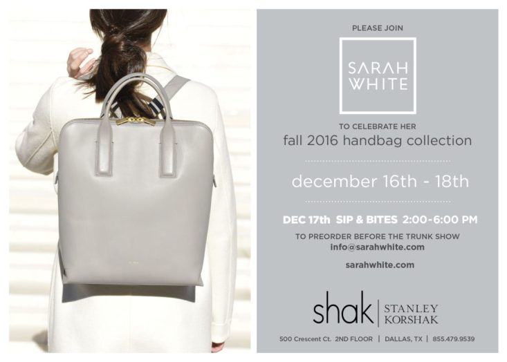 Sarah White trunk show at Stanley Korshak