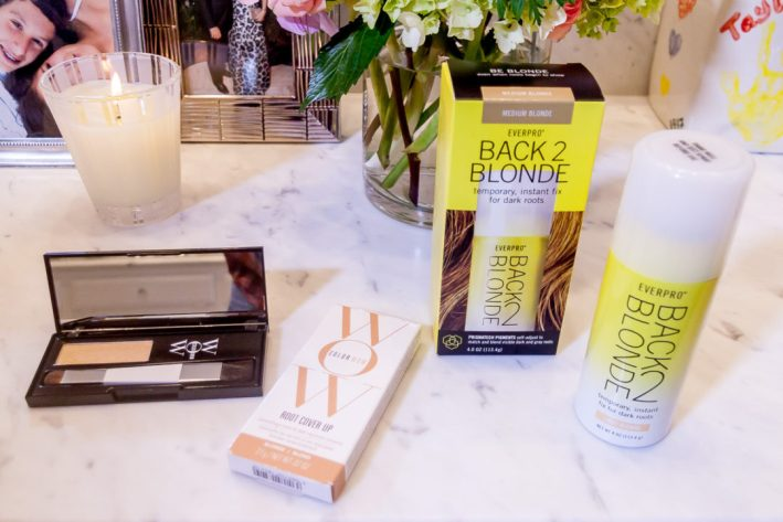 WOW and Back2Blonde products are tried to see which one covers roots best between salon appointments