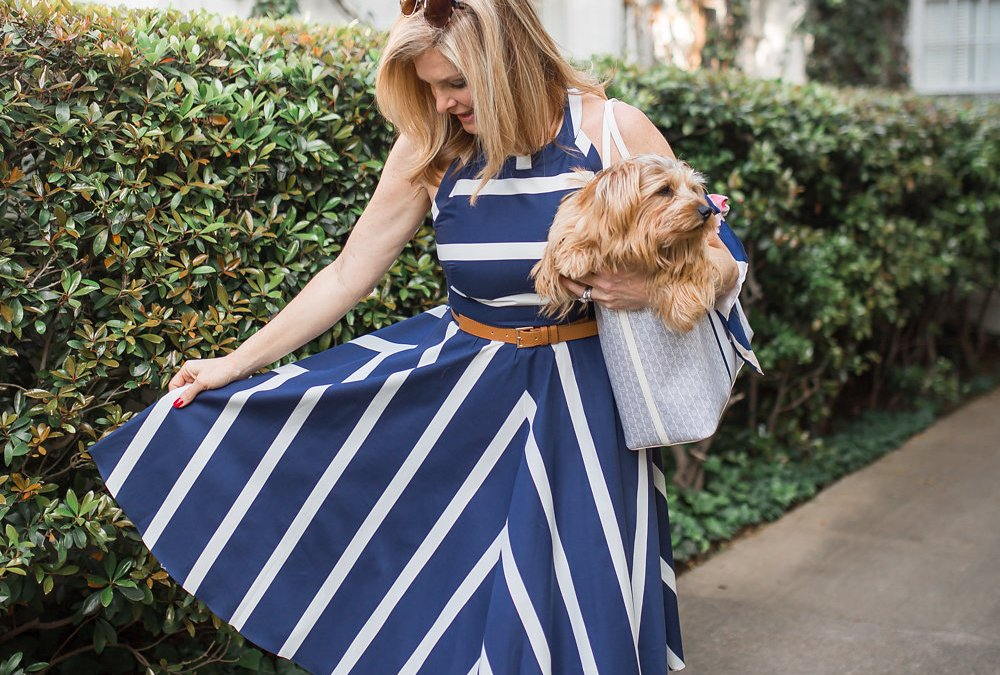stripe dress effect