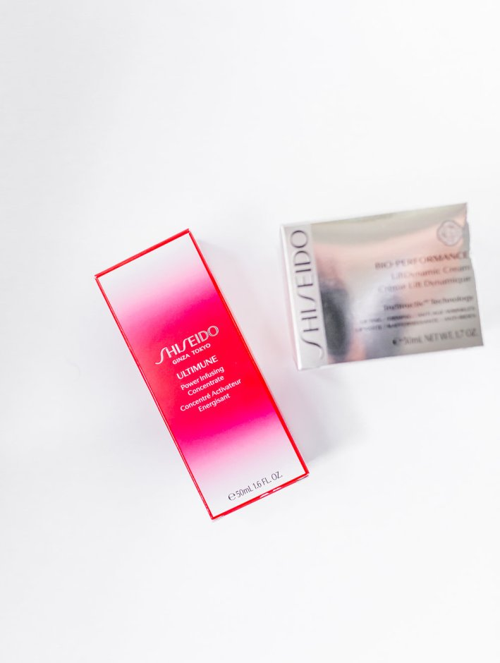 Shiseido Cosmetics Ultimune and Cio-Performance LiftDynamic Cream paired together defend against aging on TanyaFoster.com
